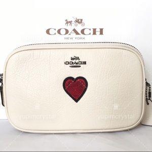 Coach Souvenir Embroidery Crossbody Leather Bag